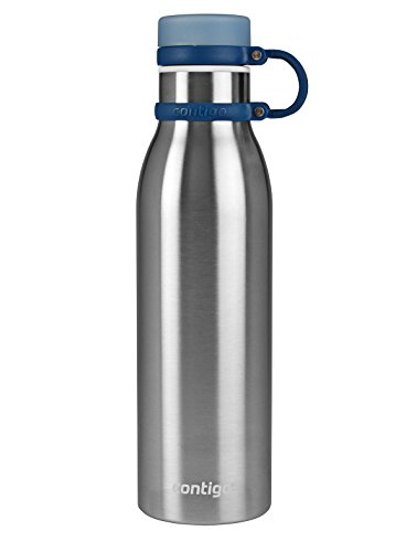 Contigo Matterhorn Vaccuum-Insulated Stainless Steel Water Bottle, 20 oz, Stainless Steel with Monaco Accents