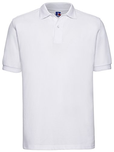 Russels Workwear - Polo - - Polo - Col polo - Manches courtes Homme - Blanc - Blanc - Large
