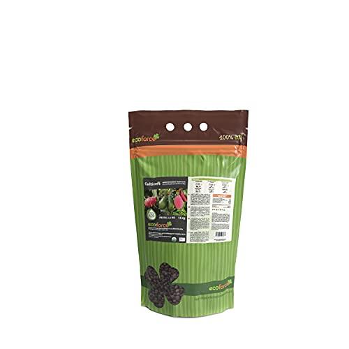 CULTIVERS Abono - Fertilizante ecológico de 1,5 kg para Plantas y árboles Tropicales para Aguacate, Mango, Litchi, Pitahaya, Papaya y Guayaba. 100% Natural