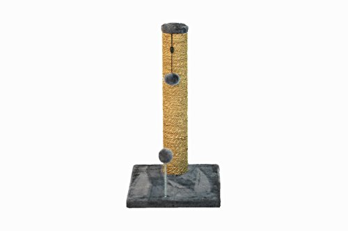 Cat Craft Sea Grass Scratching Post with Spring Toy, 20-Inch