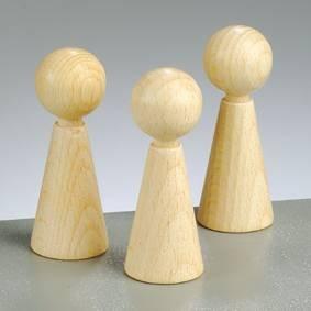 Figuren-Kegel, Höhe 60 mm, 20 Stück