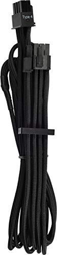 Corsair Premium Sleeved Netzteil 6+2 pin-Polig-PCIe-Single-Kabel Typ4 (Generation 4-Serie) schwarz