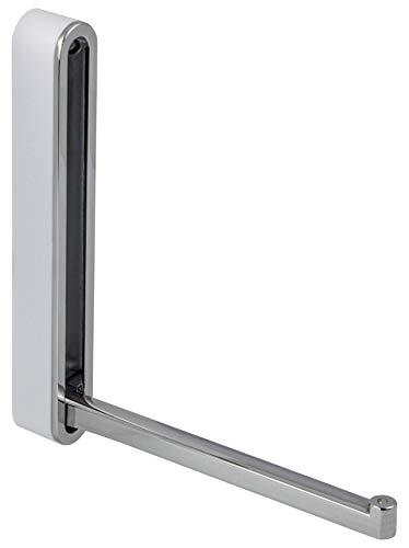 Moderner Klapphaken zum Schrauben Wand-Garderobe Paneel Kleiderhaken klappbar - H8000   Metall Chrom poliert glänzend   Wand-Montage Kleiderlüfter   MADE IN GERMANY   1 Stück - Design Garderobenhaken