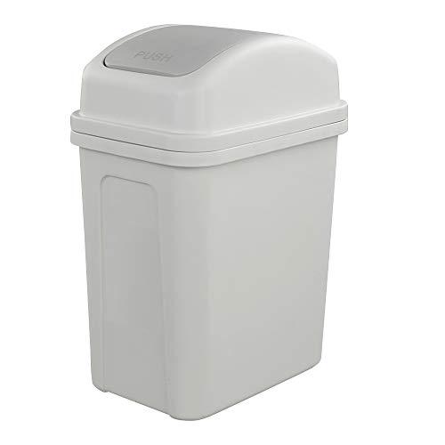 Hokky - Cubo de Basura con Tapa basculante, 7 litros (Gris)