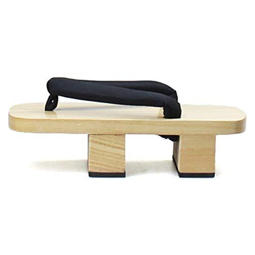Männer Geta Clogs Solid Heel Flip-Flops Plattform Sandalen Japanischen Geta Clogs hölzerne Männer Pantoffeln