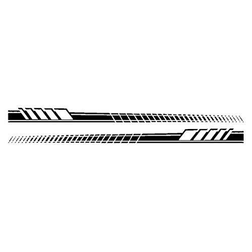 YO-HAPPY 2pcs Car Side Karosserie Aufkleber Vinyl Aufkleber Langstreifen Auto Aufkleber DIY Car Body Aufkleber Für Mercedes Benz 190x11.5CM