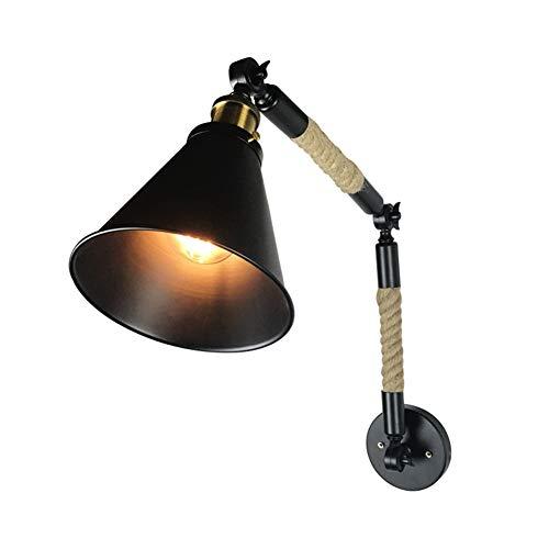 WO NICE schommel-wandlamp retro stijl plooien naar boven en beneden hoekinstelling ijzer lamplichaam geschikt voor slaapkamer woonkamer studie
