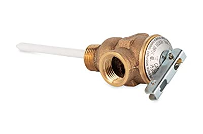 """Camco 10423 1/2"""" Temperature and Pressure Relief Valve with 4"""" Epoxy-Coated Probe by Camco"""