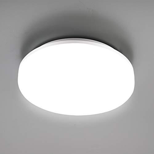 SUNGNY Lighting® Deckenleuchte LED Schlafzimmer Deckenlampe IP65 Bad Lampe 18W 1500LM 4000K Neutralweiß Moderne 220V-240V für Wohnzimmer Badezimmer Balkon Flur Küche (Rund, 18W)