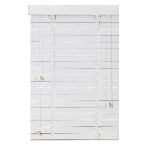 Jalousien Holz Jalousien Weiß, für Zuhause/Büro/Fenster/Tür, 50mm Lamellen, 60cm / 80cm / 100cm / 120cm / 140cm Breite (Size : 100x100cm)