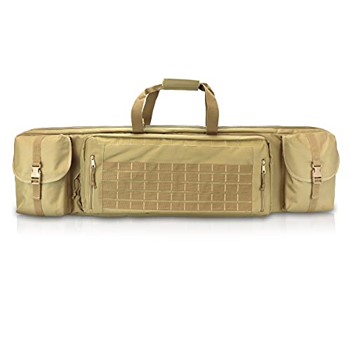 OSAGE RIVER Tactical Double Rifle Case with Pistol Storage,...