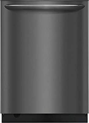 """Frigidaire FGID2468UD 24"""" Gallery Series Built-In Dishwasher with 14 Place Settings Dual OrbitClean Energy Star Certified and Delay Start (Black Stainless Steel)"""