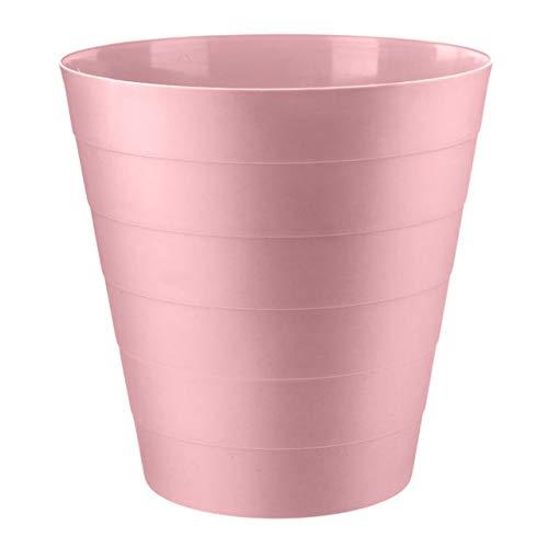 Home Plus Papierkorb mit Blumenmuster, 7,7 l, leicht, einfarbig, Pink