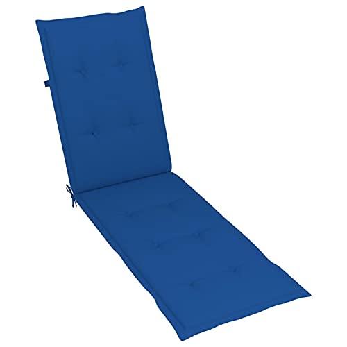 Tidyard Cojín para Tumbona Cojin para palés Confort - Cojin de Asiento o Respaldo para sofás palets Azul Real (75+105) x50x4 cm