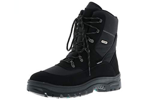 Vista Herren Winterstiefel Snowboots Eiskrallen schwarz, Größe:41, Farbe:Schwarz