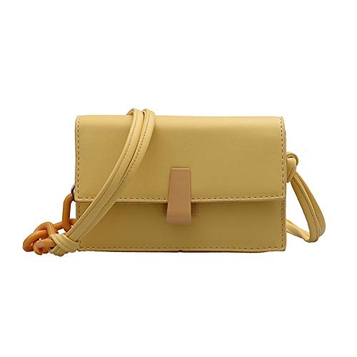 Bolso De Mujer Bolso De Mensajero para Mujer Bolso De Hombro con Correa De Hombro Bolso Simple Bolso De Mensajero Elegante Clásico Amarillo