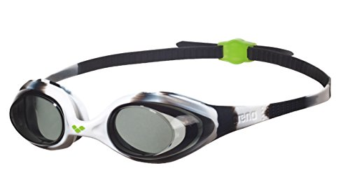 Arena Spider Jr, Occhialini Unisex Bambini, Multicolore (Black White/Clear), Taglia Unica