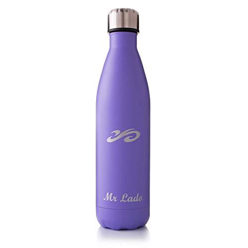 MrLado Borraccia Termica Acciaio Bottiglia Acqua Alluminio Acciaio Inox per Sport e Palestra Borraccia Acciao Bambini Water Bottle Thermos Ideale per Mantenere Fresche Le Bevande (Viola 750ml)