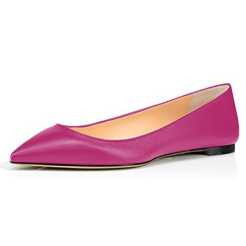 IMOSHINE Magenta Matte Bed STU Slip On Shoes for Women Size 5