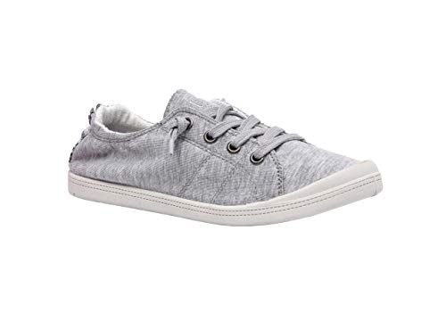 Dunes Sport Women's Reesa Canvas Sneaker, Grey, 6