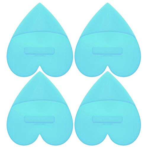 4 Stks Baby Siliconen Shampoo Borstel Baby Bad Spons Siliconen Schuurborstel Zacht Milieuvriendelijk Voedselkwaliteit Siliconen Shampoo Borstel Lichtblauw
