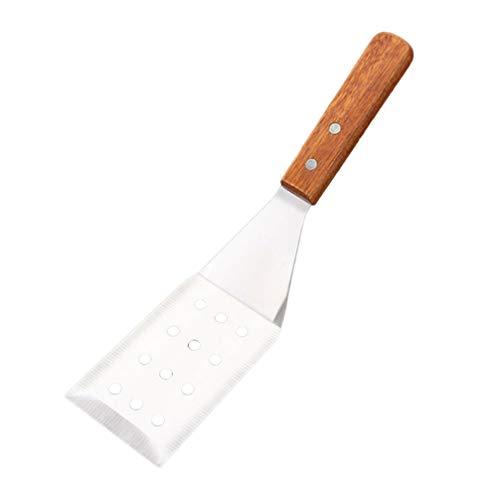UPKOCH Grillwender Edelstahl Grill Spachtel Schaufeln Pizza Wender Kuchen Heber mit Holzgriff Küchenhelfer