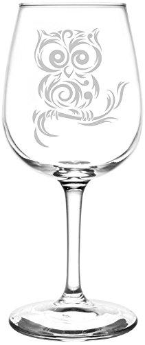 Swirl Branch - Copa de vino, diseño de búho