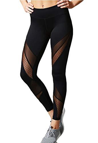 FITTOO Mallas Leggings Mujer Yoga de Alta Cintura Elásticos y Transpirables para Yoga Running Fitness790 Negro S