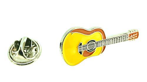 Gemelolandia | Pin de Solapa Guitarra Española Esmaltada Modelo II | Pines Originales Para Regalar | Para las Camisas, la Ropa o para tu Mochila | Detalles Divertidos