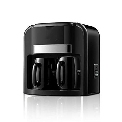 Fully Automatic Filter foaming Coffee Machine, 0.3L Espresso Machine, Ceramic Double Cup Small Insulated Coffee Maker, Black