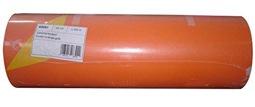 Woerner Geschenkpapier Vollton orange gelb Rolle 250m x 50 cm