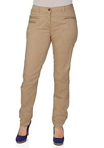 sheego Pantaloni Jeans Elasticizzati Donna Breve Formato Colore Sabbia - Sabbia, 22