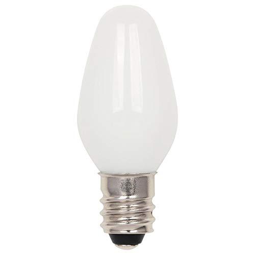 Westinghouse 5510900 0.75 (equivalente a 7 vatios) C7 esmerilado, base de candelabro, paquete de 2 bombillas LED