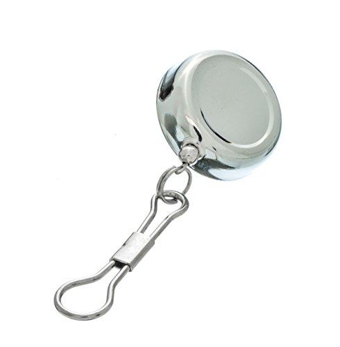 SE 202jcc Roll-Wechselrahmen verchromt Pull Reel Schlüsselanhänger ID Holder, 2,5cm
