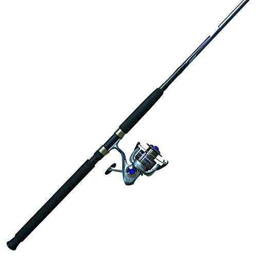 Quantum Blue Runner Spinning Combo, Saltwater, 5.2:1 Gear Ratio, 7' Length 2pc, 15-40 lb Line Rate, Ambidextrous
