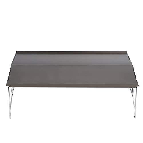 Aluminium Picknick Eettafel, Opvouwbare Outdoor Bijzettafel Draagbare Salontafel voor Enkele Barbecue Wandelen Camping, 35x25x11cm