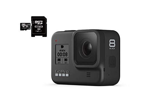 GoPro HERO8 Black ゴープロ ヒーロー8 ブラック ウェアラブル アクション カメラ CHDHX-801 + マイクロ SD カード 64GB セット [並行輸入品]