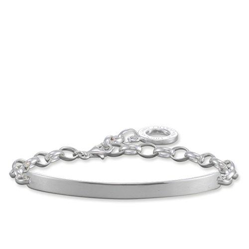 Thomas Sabo Damen-Charm-Armband Charm Club 925 Sterling Silber Länge 19.5 cm Brücke 5 cm X0211-001-12-L19,5v