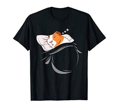 Schlafanzug Outfit Geschenk Schlummerndes Meerschweinchen T-Shirt