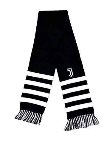 Sciarpa Juventus Juve Ufficiale Nera in Acrilico Tubolare Doppia SCTJUNERIGHFINBI