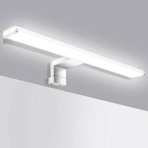 Oeegoo LED Spiegelleuchte 40cm, IP44 Wasserdichte Badleuchte Flimmerfrei Schminklicht Spiegellampe, 8W 650LM Wandleuchte Badlampe Schminkleuchte Schrankleuchte, Neutralweiß 4000K