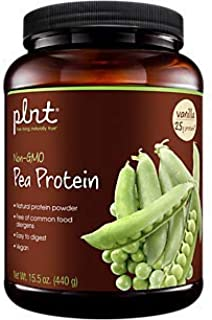 plnt Pea Protein Vanilla, Natural Easy to Digest Protein Powder Free of Common Food Allergies, Vegan 11 Servings per Container (15.5 Ounce Powder)