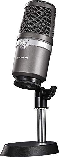AVerMedia USB Mikrofon AM310 - Hochwertiges Aufnahmemikrofon, Nierencharakteristik, Plug und Play USB Mikrofon