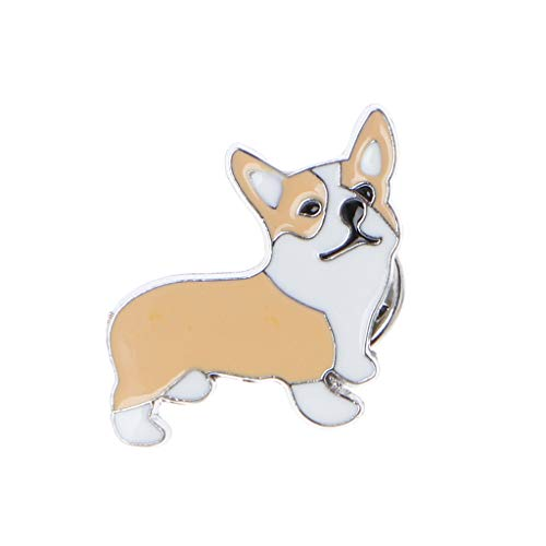 QERMULA Mascota Cachorro Husky Corgi Ji Wawa Perros broches esmaltados alfileres Lindos Amantes de Las Mascotas joyería Broche 2#