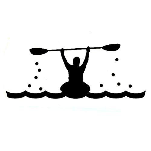 xxGamepad Mode Kajak Sport Silhouette Schwarz, Aufkleber Aufkleber Auto Aufkleber Für Laptops, Motorr? Der, Fahrr? Der, Skateboards Vinyl Kofferraum Auto Aufkleber, Fenster/Augenbrauen/Licht/Schwanz