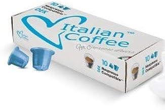 "Italian Coffee Decaffeinated ""DEK"" capsules compatible with Nespresso machines (Decaffeinated Espresso, 100 pods)"