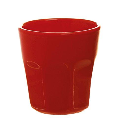 Excelsa Trendy Becher Kaffee 80ml, Keramik 6x6x6.3 cm rot