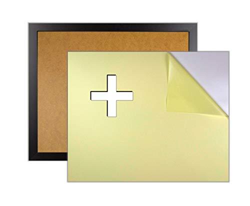 myposterframe Bilderrahmen für Rubbel Weltkarte mit Klebepappe 44 x 84 cm Juno Größenwahl 84 x 44 cm Schwarz matt mit haftender Hintergrund Pappe