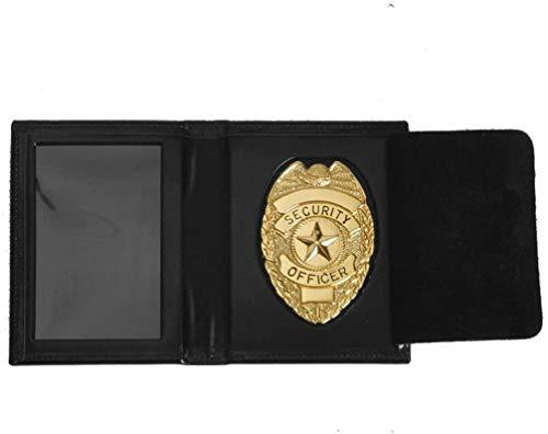 Mil-Tec - Portadocumenti in pelle, con stemma 'Security Officer', gold