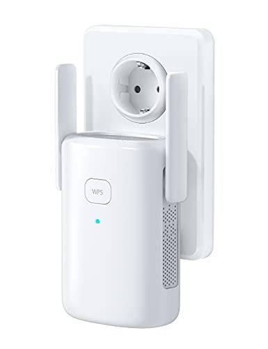 1200Mbps, Repetidor WiFi , 2.4 GHz/ 5Ghz Amplificador WiFi Extensor, con Puerto Ethernet,Repetidor Inalámbrico con Botón WPS, Fácil de configurar